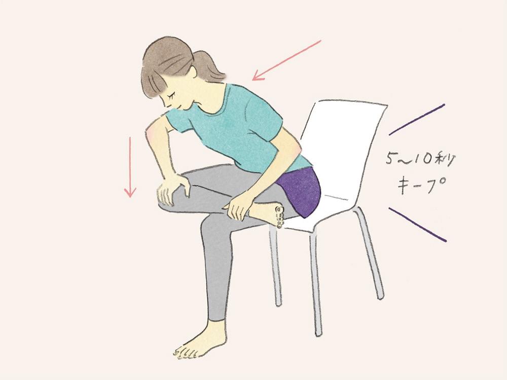 筋 腸 ストレッチ 腰